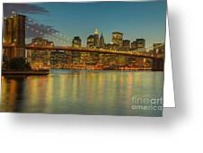 Brooklyn Bridge Twilight Greeting Card