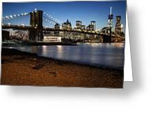 Brooklyn Bridge View Greeting Card