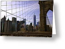 Brooklyn Bridge View Greeting Card