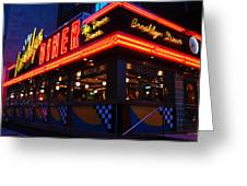 Brooklyn Diner Usa Greeting Card