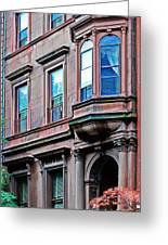 Brooklyn Heights - Nyc - Classic Building And Bike Greeting Card