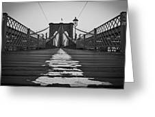 Brooklyn Lines Greeting Card by Michael Murphy