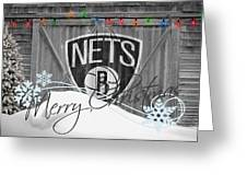 Brooklyn Nets Greeting Card by Joe Hamilton