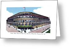 Brooklyn - New York - Flatbush - Ebbets Field - 1928 Greeting Card