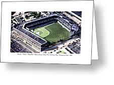 Brooklyn - New York - Flatbush - Ebbets Field - 1940 Greeting Card
