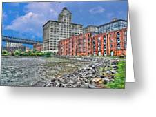Brooklyn Old Tobacco Warehouse Greeting Card