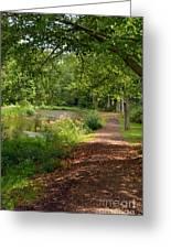 Brookside Garden Walk Greeting Card