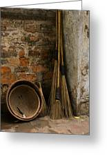 Brooms   #0112 Greeting Card