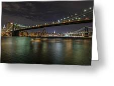 Broooklyn Bridhe At Night Greeting Card