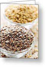 Brown And Golden Flax Seed Greeting Card