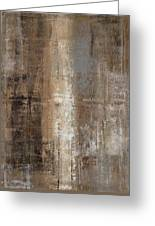 Slender - Grey And Brown Abstract Art Painting Greeting Card