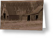 Brown Barns Greeting Card