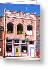 Brown Bear Cafe Silverton Colorado Greeting Card