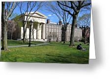 Brown Campus Manning Hall Greeting Card