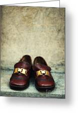Brown Children Shoes Greeting Card