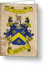 Brown Coat Of Arms - England Greeting Card