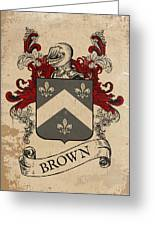 Brown Coat Of Arms - Scotland Greeting Card