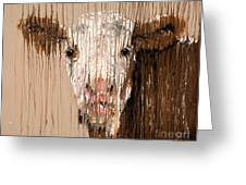 Brown Cow Greeting Card