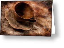 Brown Cup  Greeting Card