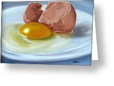 Brown Egg Study Greeting Card