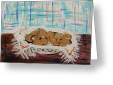 Brown Eggs In A Basket Greeting Card