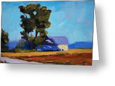 Brown Farm Landscape Greeting Card