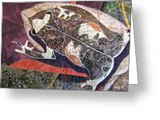 Brown Forest Toad Greeting Card by Lynda K Boardman