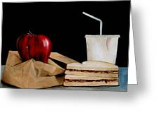 Brown Lunch Bag Greeting Card