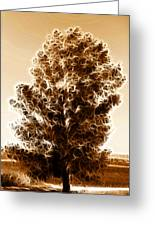 Brown Of Autumn Greeting Card