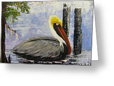 Brown Pelican Revisited Greeting Card
