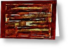 Brown Red And Golds Abstract Greeting Card