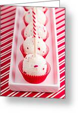 Brownie Peppermint Cake Pops Greeting Card
