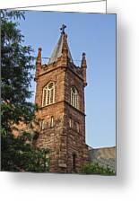 Brownstone Church Greeting Card
