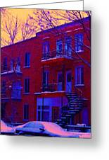 Brownstones In Winter 6 Greeting Card