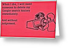 Browser Search History Greeting Card