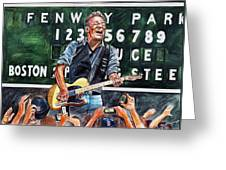 Bruce Springsteen At Fenway Park Greeting Card