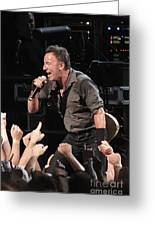 Musician Bruce Springsteen Greeting Card