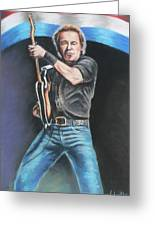 Bruce Springsteen  Greeting Card by Melinda Saminski