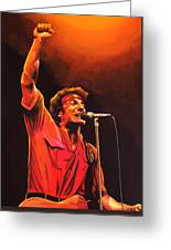 Bruce Springsteen Painting Greeting Card