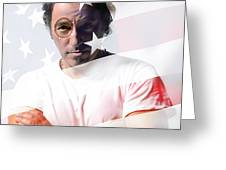 Bruce Springsteen Portrait Greeting Card