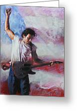 Bruce Springsteen The Boss Greeting Card