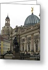 Bruehlsche Terrace - Church Of Our Lady - Dresden - Germany Greeting Card