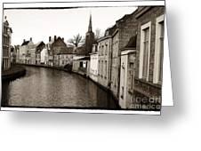 Bruges Canal Scene Vii Greeting Card