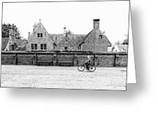 Bruges Cyclist Greeting Card