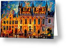 Bruges Greeting Card by Leonid Afremov