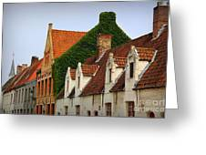 Bruges Rooftops Greeting Card