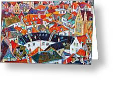 Bruges Rooftops Greeting Card