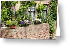 Brugge Balcony Greeting Card