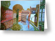 Brugge Canal Greeting Card