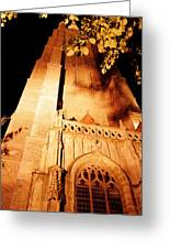 Brugge Cathedral At Night Greeting Card